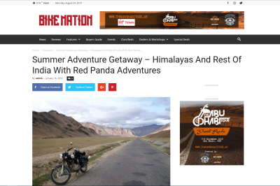 Summer Adventure Getaway – Himalayas And Rest Of India With Red Panda Adventures